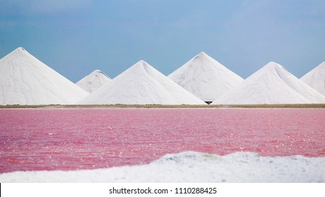 salt evaporation plant on Bonaire Island, ABC Islands, Netherlands antilles