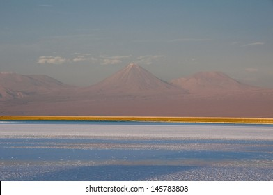 Salt flat of Atacama and Andes mountain range (Chile)