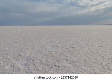 salt flat in the basin of dry lake Tuz Golu Ankara province, Turkey