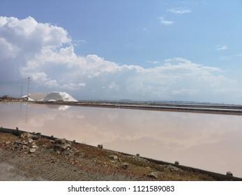 Salt flats in Cagliari Italy