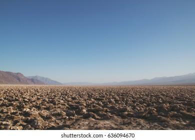 Salt flats in Death Valley National Park.