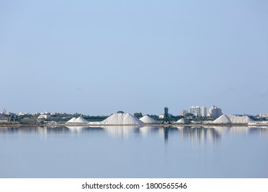 The salt flats of Torrevieja are located within the natural park of La Mata in the province of Alicante in Spain.