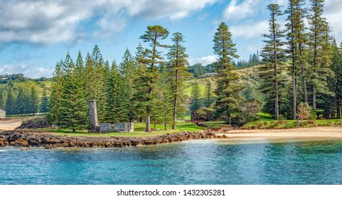 The Salt House on Norfolk Island build and operated by convict labour when the island was a penal colony.   Descendants of the Bounty mutineers now live on the island