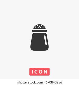 Salt Icon Illustration. Flat symbol. Simple Perfect Black pictogram illustration on white background.