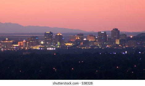 Salt Lake City downtown view