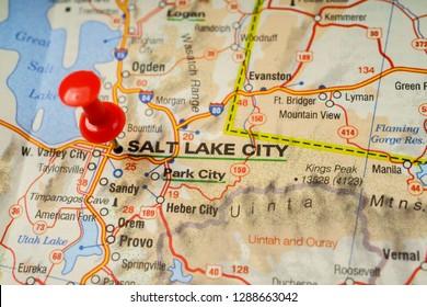 Salt lake city on the map