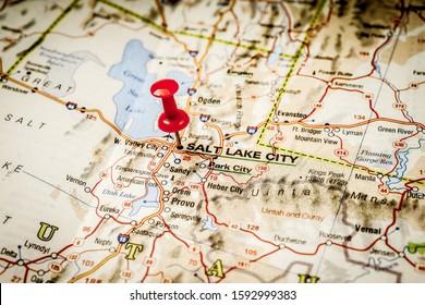 Salt Lake City Map Images, Stock Photos & Vectors   Shutterstock