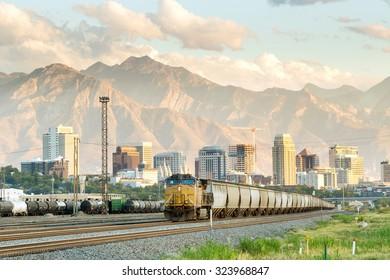 Salt Lake City skyline Utah in USA