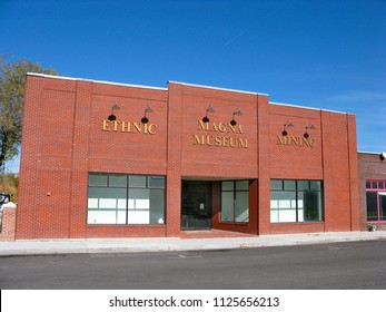 SALT LAKE CITY, UNITED STATES - NOVEMBER 03, 2007: Histirical photo of of Magna museum building. Magna is is a census-designated place (CDP) and township in Salt Lake County, Utah
