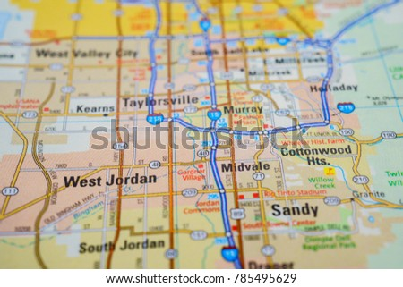 Salt Lake City On Us Map.Salt Lake City Usa Map Stock Photo Edit Now 785495629 Shutterstock