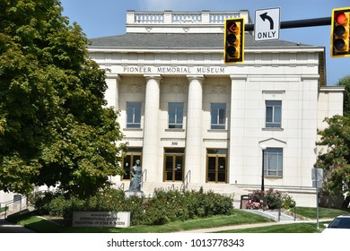 SALT LAKE CITY, UT - AUG 29: The Pioneer Memorial Museum in Salt Lake City, Utah, as seen on Aug 29, 2017. It houses the world's largest collection of artifacts on one subject.