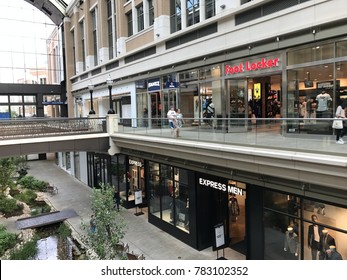 SALT LAKE CITY, UT - AUG 28: City Creek Center in Salt Lake City, Utah, as seen on Aug 28, 2017. It is a mixed-use development with an upscale open-air shopping center.