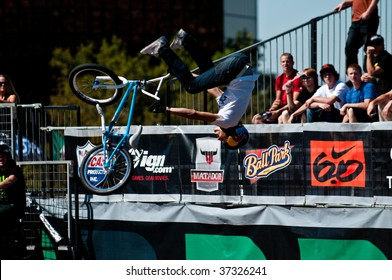 SALT LAKE CITY, UT - SEPTEMBER 18: Daniel Dhers competes at the 2009 Dew Tour Toyota Challenge held in Salt Lake City, Utah on September 18, 2009.