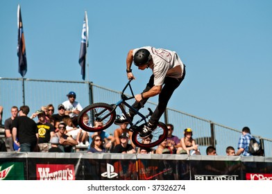 SALT LAKE CITY, UT - SEPTEMBER 18: Diogo Canina competes at the 2009 Dew Tour Toyota Challenge held in Salt Lake City, Utah on September 18, 2009.