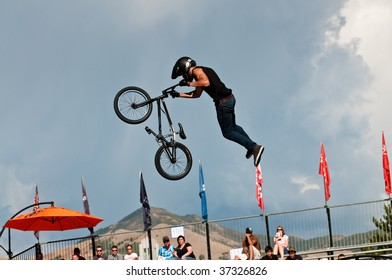 SALT LAKE CITY, UT - SEPTEMBER 18: Craig Mast during a tail whip at the 2009 Dew Tour Toyota Challenge held in Salt Lake City, Utah on September 18, 2009.