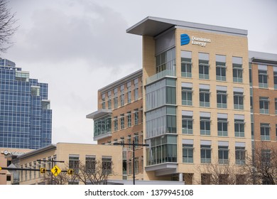 SALT LAKE CITY, UT, USA - MARCH 15, 2019: Dominion Energy Building Salt Lake City Utah