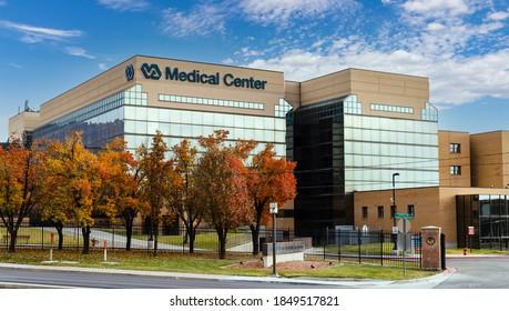 Salt Lake City, UT / USA - November 6, 2020: George E. Wahlen Department of Veterans Affairs Medical Center