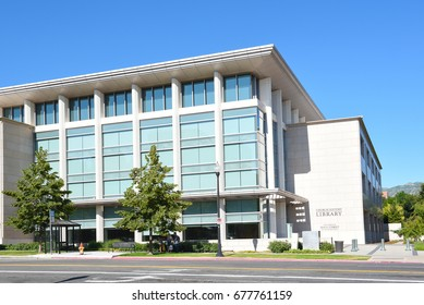 SALT LAKE CITY, UTAH - JUNE 28, 2017: LDS Church History Library. The building houses archival storage of historic material relating to the founding of the church.