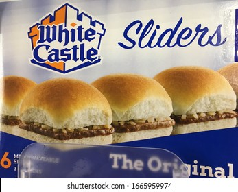 Salt Lake City, Utah / U.S.A. - March 6th 2020: National Frozen Food Day with White Castle sliders is a good way to celebrate the convenience and less time consuming way to eat since the fifties