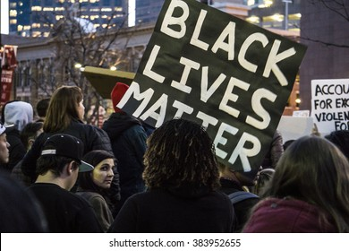 Salt Lake City, Utah, USA - February 29, 2015. People rally against police brutality in Salt Lake City after Abdi Mohamed was shot by a police officer on January 27th.