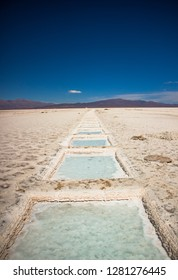 Salt lake on the Salinas Grandes in Jujuy province, Argentina