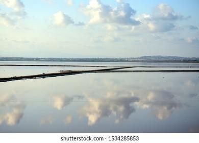 Salt lake pans in Torrevieja Spain
