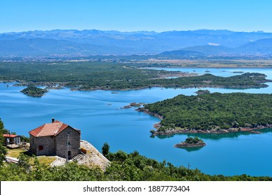Salt Lake, Slano Lake, Slano Jezero, Nikšic, House, Montenegro - Shutterstock ID 1887773404
