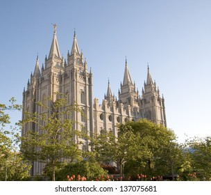 The Salt Lake Temple is located in Salt Lake City Utah and took ~40 years to build (from 1853 to 1893) and remains one of the most most visited locations in the state.