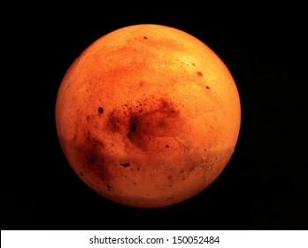 salt lamp that looks very much like mars