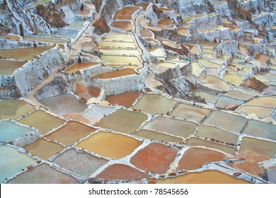 Salt manufacturing Andes colors