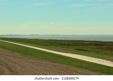 Salt marsh in North Germany, Lower Saxony at the Wadden Sea