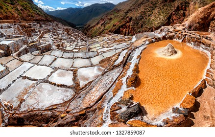 Salt Mines in Maras, Sacred Valley, Peru (Salineras).
