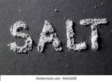 Salt on dark gray background