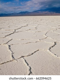 Salt pan on the valley floor, Death Valley National Park, California