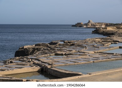 Salt pans at Gozo island