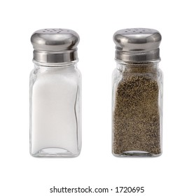 Salt & Pepper Shaker isolated on white