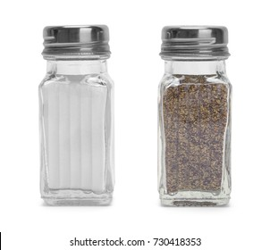 Salt and Pepper Shaker Isolated on a White Background.