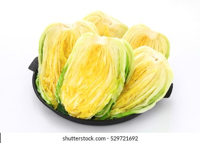 Salt pickled cabbages. This is main ingredients of Kimchi, Korean traditional food.