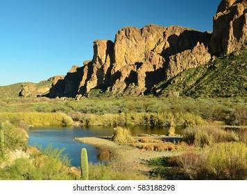 The Salt River, Arizona. Near Phoenix