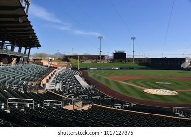 Salt River Field at Talking Stick spring training facility for Arizona Diamondbacks and Colorado Rockies Scottsdale Arizona 2/4/18