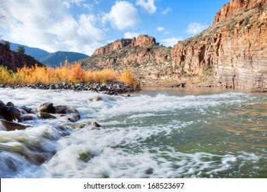 Salt River running over rocks.