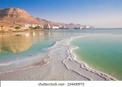Salt Sea, is a salt lake bordering Jordan to the north, and Israel to the west