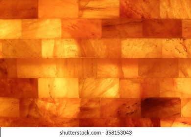 Salt stone wall in a Salt Cave Salarium