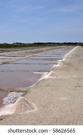 Salt winning in France Ile de Re