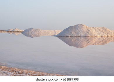 Salt works at sunrise. in blue hour. Salt and water creates a powerful image to photographfotografiar