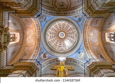 Salta, Argentina - Apr 25, 2018: San Francisco Church Ceiling - Salta, Argentina