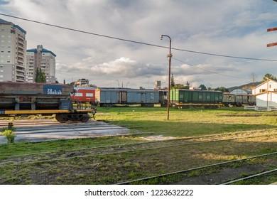 SALTA, ARGENTINA - APRIL 9, 2015: Railway station  in Salta, Argentina.