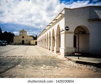 SALTA, ARGENTINA - MARCH 2006: Archaeological Museum Pío Pablo Díaz Cachi and the Iglesia San José church, Salta, Argentina