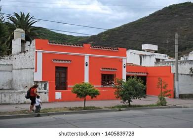 Salta/ Argentina - November 12 2008: The colorful architecture of Salta
