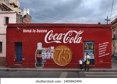 Salta/ Argentina - November 12 2008: The colorful advertising in the streets of Salta